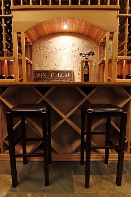 Wine Cellar on Big Lake, Mt Vernon WA traditional-wine-cellar