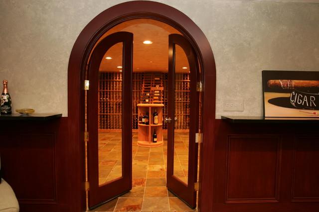 Wine Cellar - Residential, Oakland County, Michigan mediterranean-wine-cellar