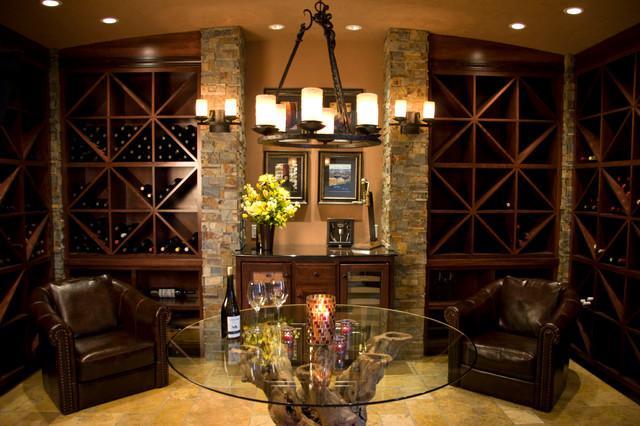 Wine Cellar Room Mediterranean Wine Cellar Portland