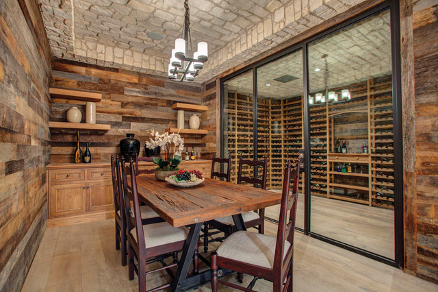 Wine Cellar Steel Door Traditional Wine Cellar