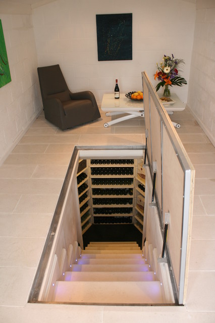 Wine Cellar - The Large Hexagon - Contemporary - Wine Cellar - Sussex - by Stone Cellar Company