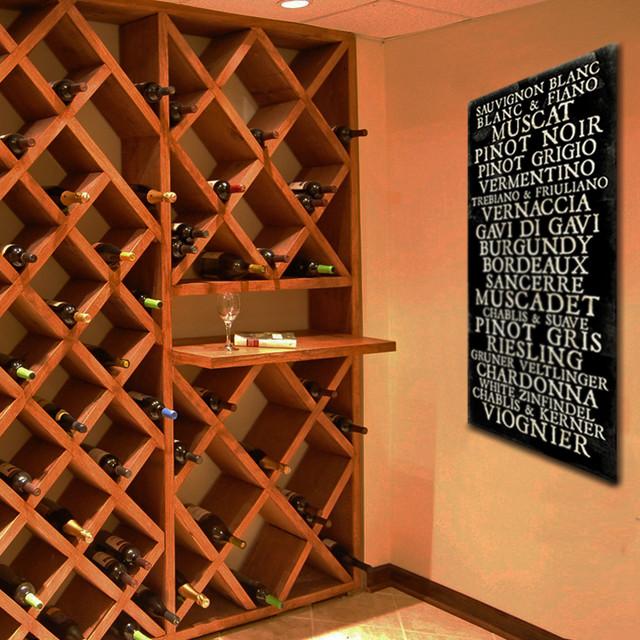 Wine Cellar Transit Sign Decor Modern Wine Cellar By