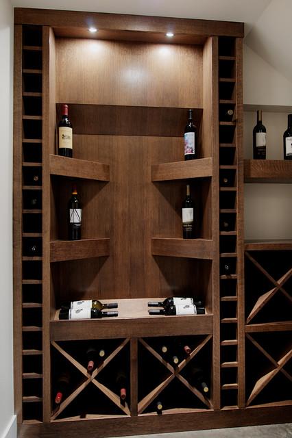 Wine cellar under stairs - Contemporary - Wine Cellar ...