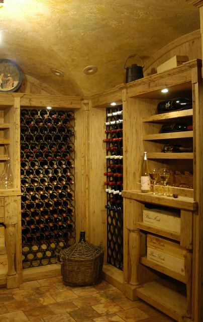 Wine Cellar Vaulted Ceiling Mediterranean Wine Cellar