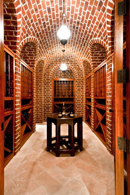 Wine cellar craftsman wine cellar atlanta by for Garage wine cellar
