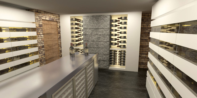 wine cellars and wine cabinets 3d design moderne cave vin other metro par degre 12. Black Bedroom Furniture Sets. Home Design Ideas