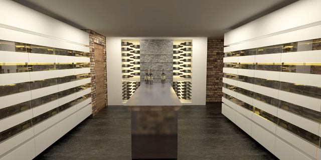 Wine cellars and wine cabinets - 3D Design - Modern - Wine Cellar ...