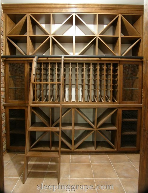 Wine Cellars with Ladders contemporary wine cellar