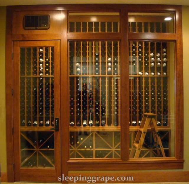 Wine Cellars with Ladders contemporary-wine-cellar
