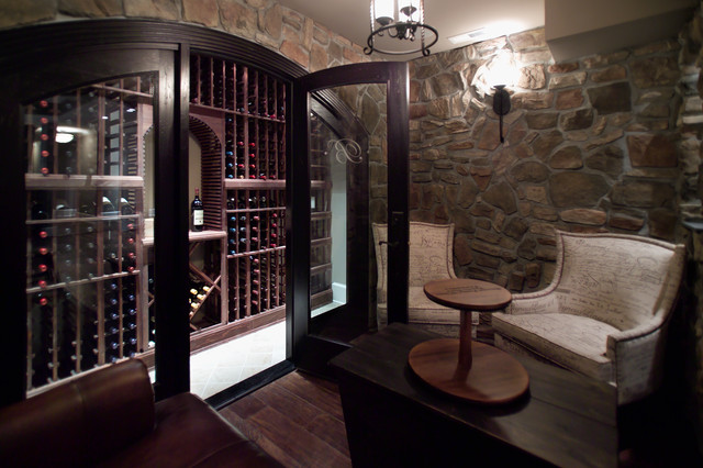 Wine closet tasting room in maryland traditional wine for Building wine cellar