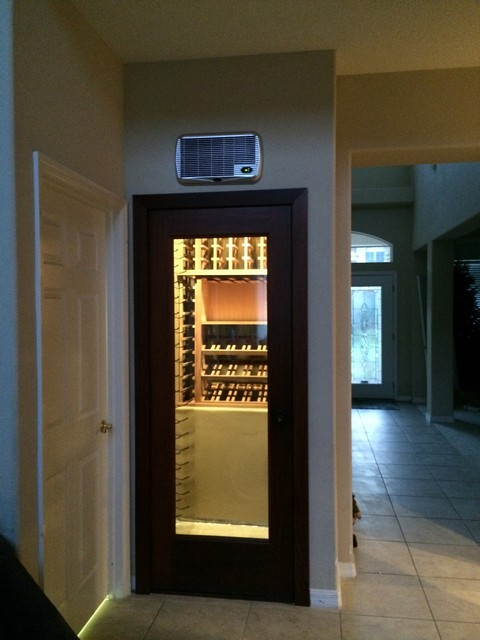 Wine Closet With Vintageview And Mahogany Wood Wine Racks