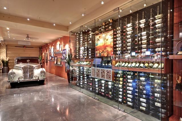Wine cellars wine cellar phoenix by eagle luxury for Garage wine cellar