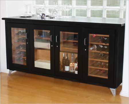 Wine Credenza Contemporary Wine Cellar Other Metro