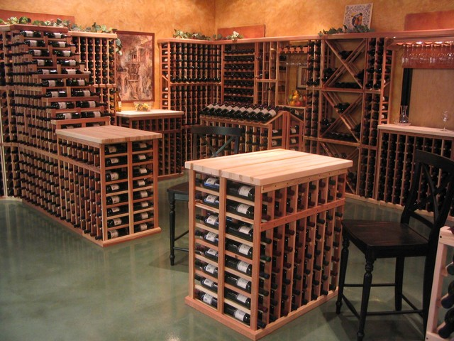 Wine Cellar Furniture In Wine Racks America Custom Showroom Traditionalwinecellar Traditional Cellar