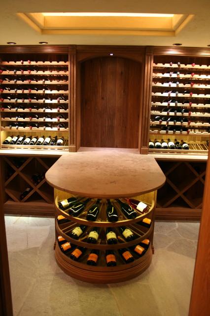 Wine Racks traditional-wine-cellar