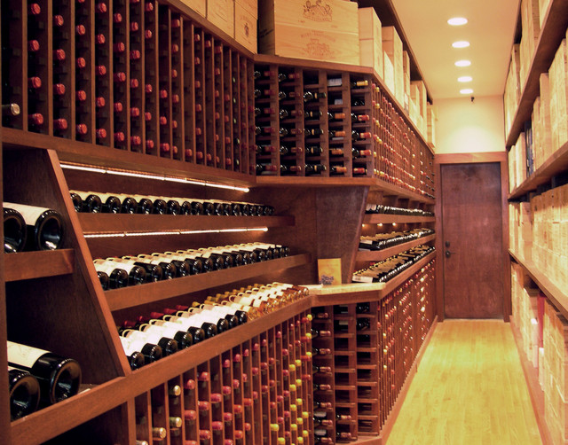 Wine room - Modern - Wine Cellar - New York - by Atlantic Construction ...