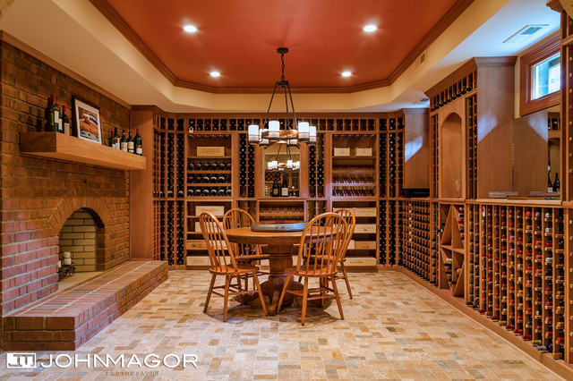 Wine room by lane homes remodeling traditional wine for Wine rooms in homes