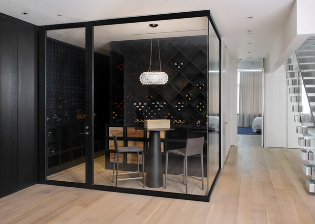 Wine Room contemporary wine cellar