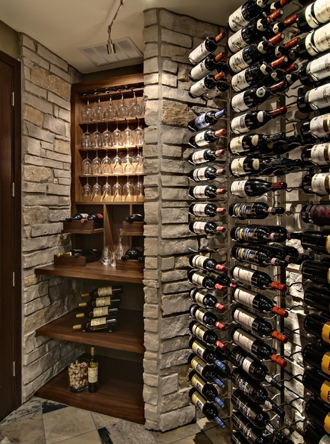 Wine Room - traditional - wine cellar - minneapolis - by Design By ...