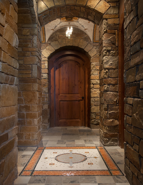 Wine Room entry and vaulted ceiling - Rustic - Wine Cellar - phoenix ...