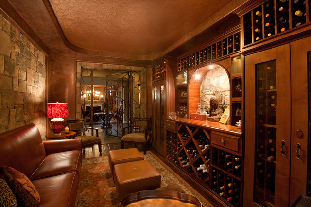 Wine Room - Traditional - Wine Cellar - Las Vegas - by Natural Domain Interiors, llc