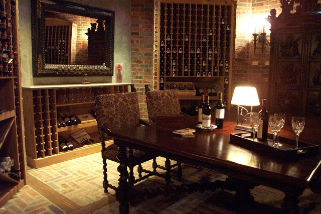 wine room traditional wine cellar