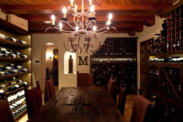 Wine room mediterranean-wine-cellar