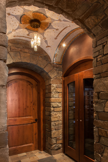 Wine Room Vaulted Ceiling Rustic Wine Cellar Phoenix