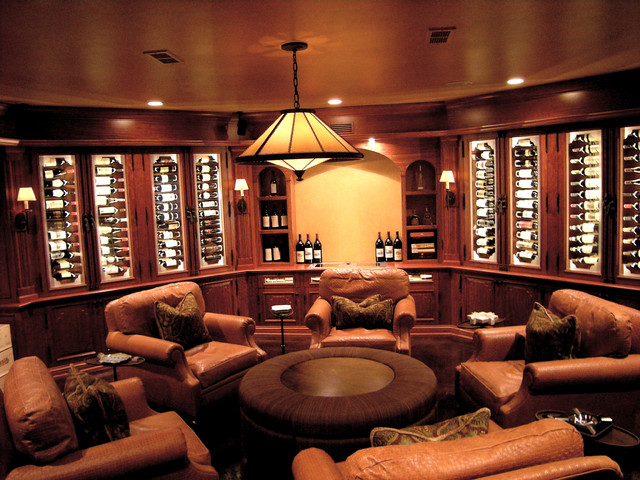 Wine Room w/Seating traditional-wine-cellar