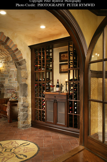 Wine Storage Built In Traditional Wine Cellar New