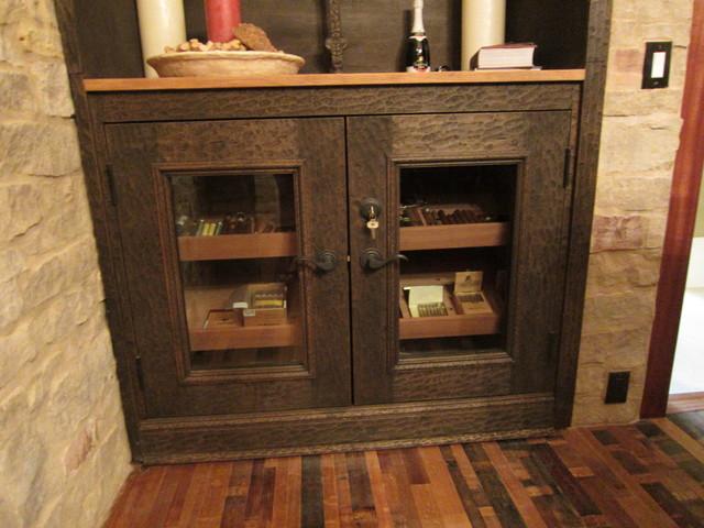 wine storage fl and humidor storage; this wine cellar has it all
