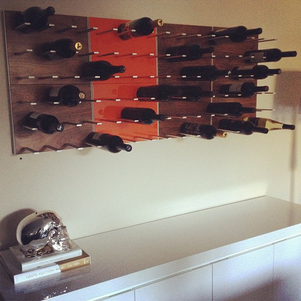 Wine storage for urban condo living - STACT Modular Wine Wall contemporary-wine-cellar