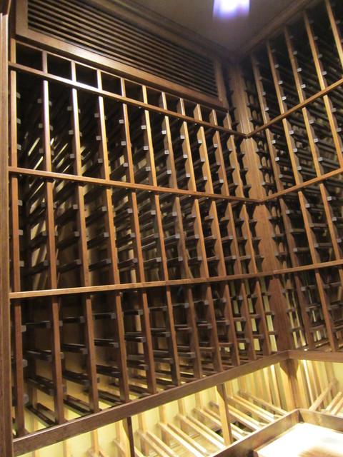 Wine Storage Racks Texas and Wine Cellar Cooling traditional-wine-cellar