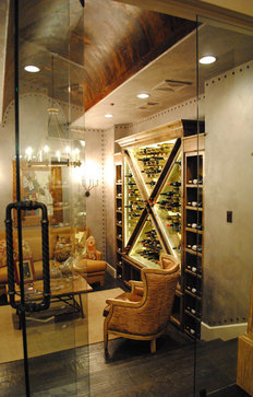 Wine storage eclectic wine cellar