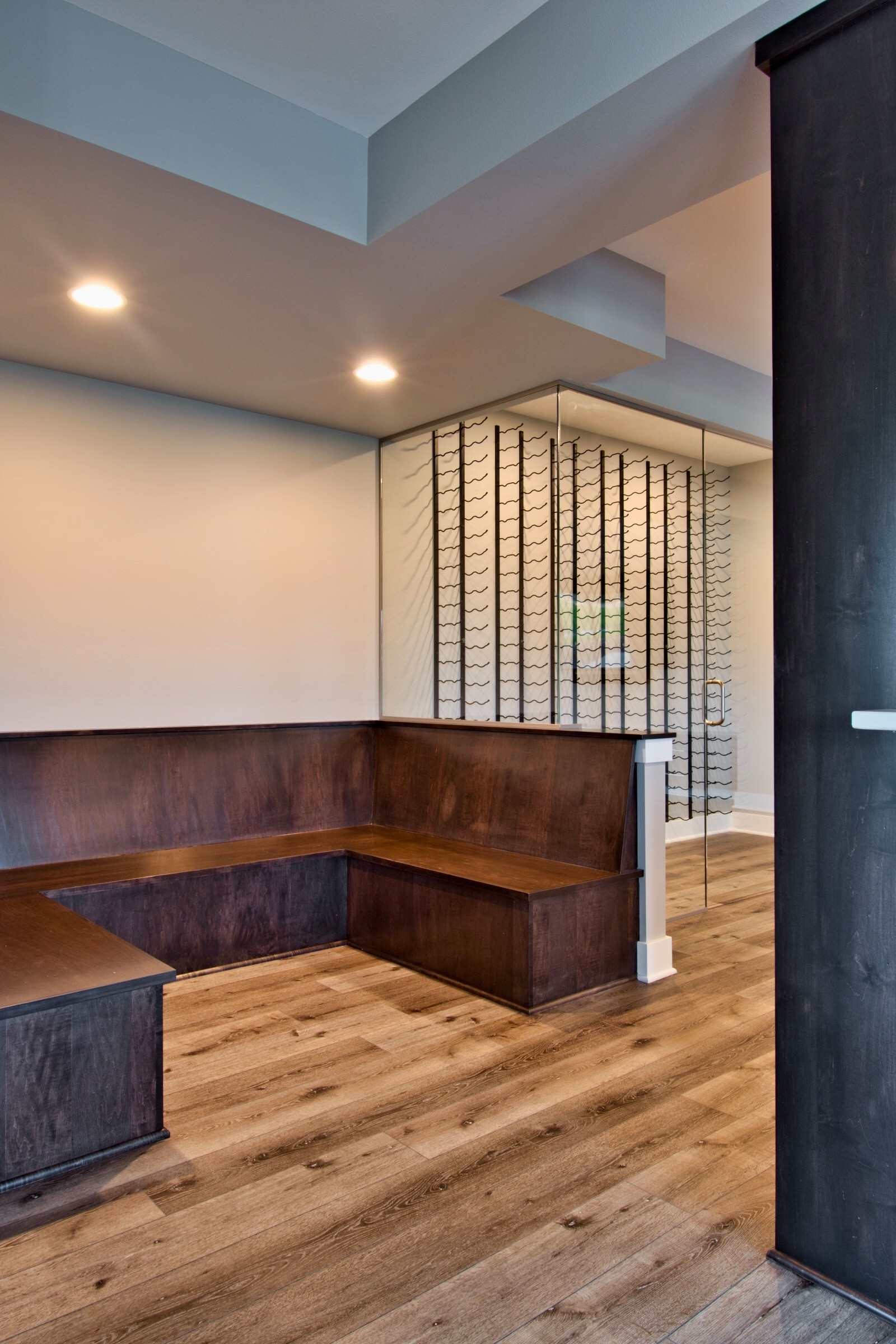 Wine Tasting Area - bench seating