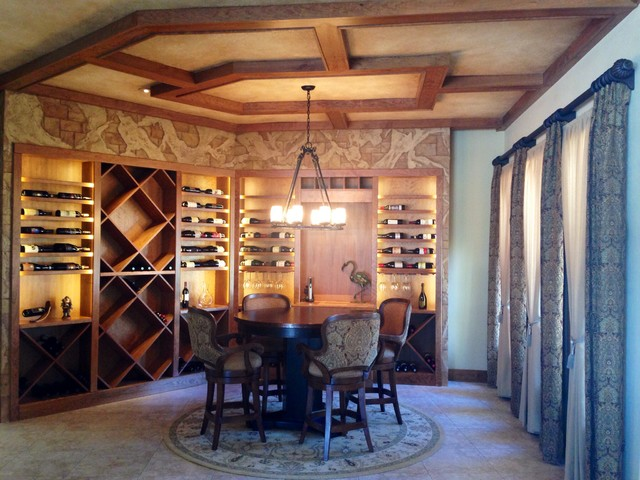 wine tasting room or how to repurpose an unused dining room