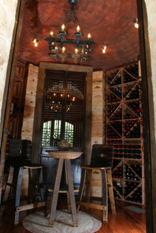 Wonder what a million dollar remodel looks like? mediterranean wine cellar