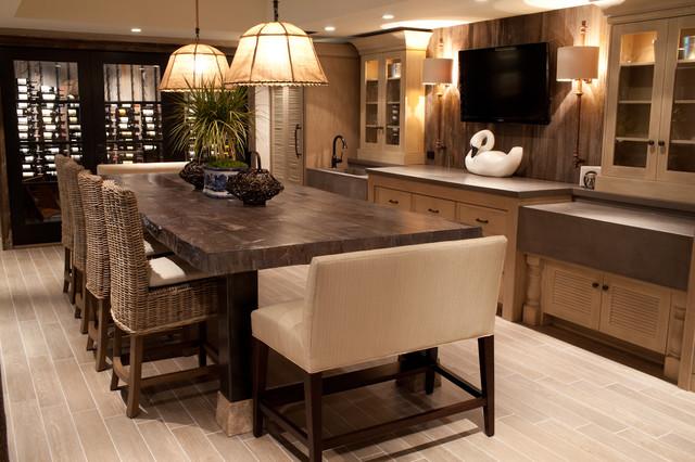 WoodForm™ Concrete contemporary-wine-cellar