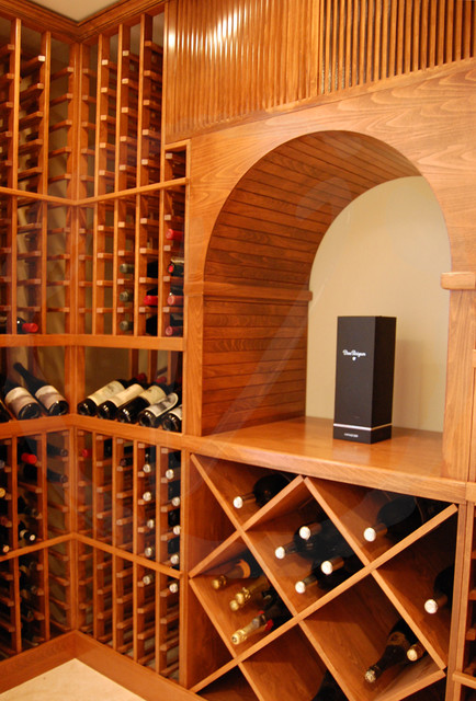 X-bin Racking and a Decanting Surface - Traditional - Wine Cellar - los angeles - by Vinotemp