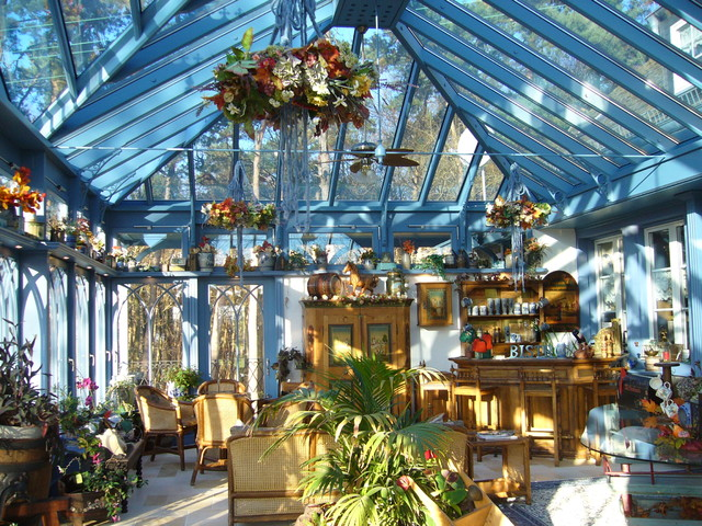 englischer wintergarten mit 2 terrassen berdachungen im. Black Bedroom Furniture Sets. Home Design Ideas