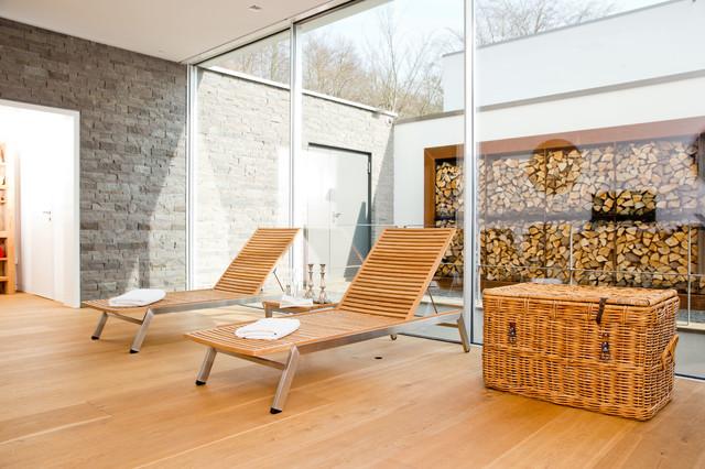 Sauna und ruhebereich modern wintergarten k ln von ph 129 przygoda hoppenhaus architekten - Sauna architektur ...