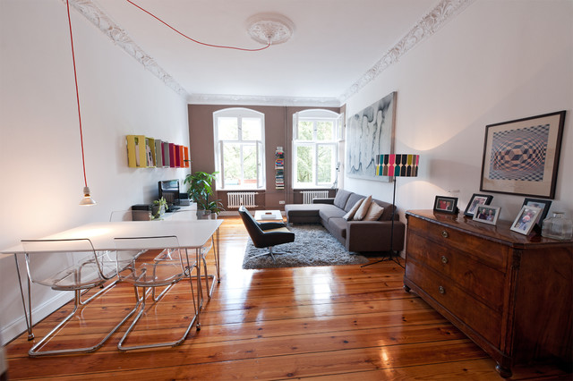 Altbau sanierung gestaltung eklektisch wohnbereich - Wohnzimmer altbau ...