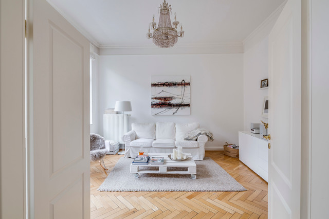 Altbau Modern In Kln Skandinavisch Wohnbereich