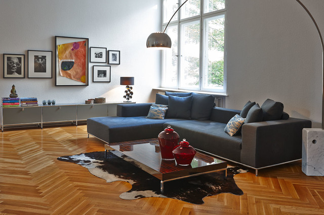 Altbauwohnung Berlin Charlottenburg transitional-living-room