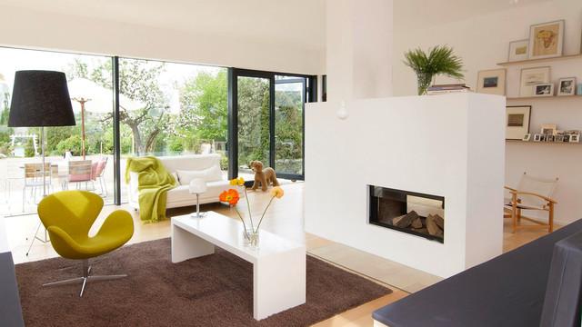 Anbau An Ein Siedlungshaus Modern Wohnzimmer
