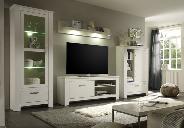 anbauwand toskana landhausstil wei modern wohnzimmer. Black Bedroom Furniture Sets. Home Design Ideas