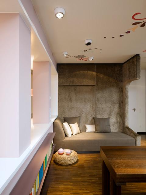 apartment s modern wohnbereich stuttgart von. Black Bedroom Furniture Sets. Home Design Ideas