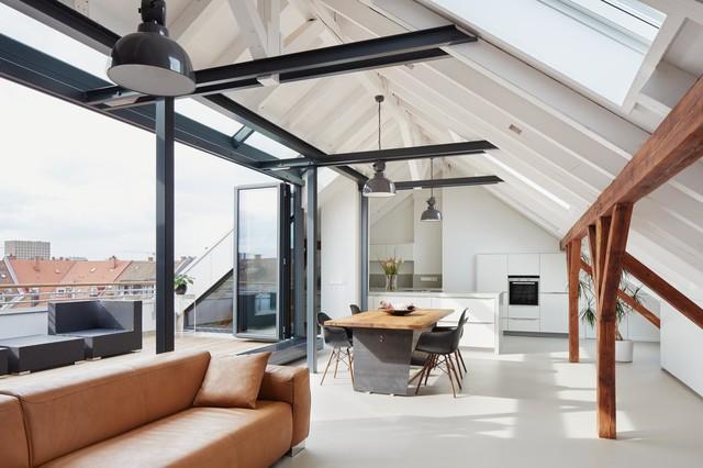 Ausbau einer Dachgeschosswohnung zur Maisonette - Contemporaneo ...