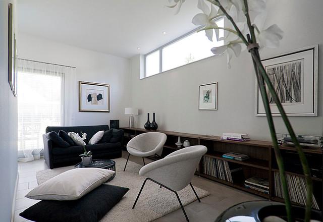 Christine White Design Interior Decorators. Bauhaus inspired home  contemporary-family-room