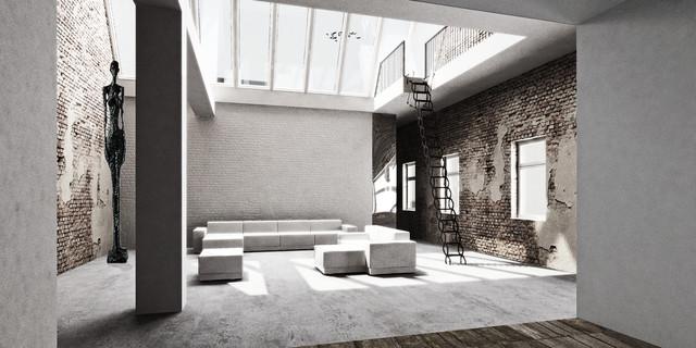 Berlin Loft - Industrial - Living Room - Berlin - by marc benjamin ...
